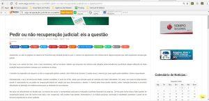 Artigo Recuperação Judicial do Hannud & Velloza